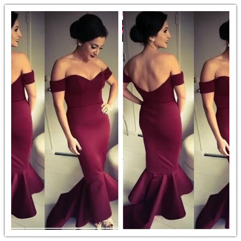 7a26f54e040b Prom Gown,Pretty Off Shoulder Burgundy Prom Dresses With Satin, Evening  Gowns,Burgundy