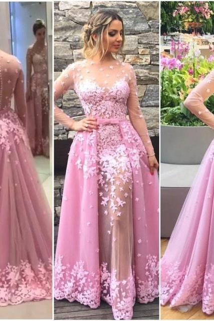 Charming Prom Dress,Lace Prom Dress,Beautiful Prom Evening Dress,Ball Gowns,See Through Prom Dress,Party Dress,Senior Prom Dress,Modest Formal Dress,Long Evening Dress,